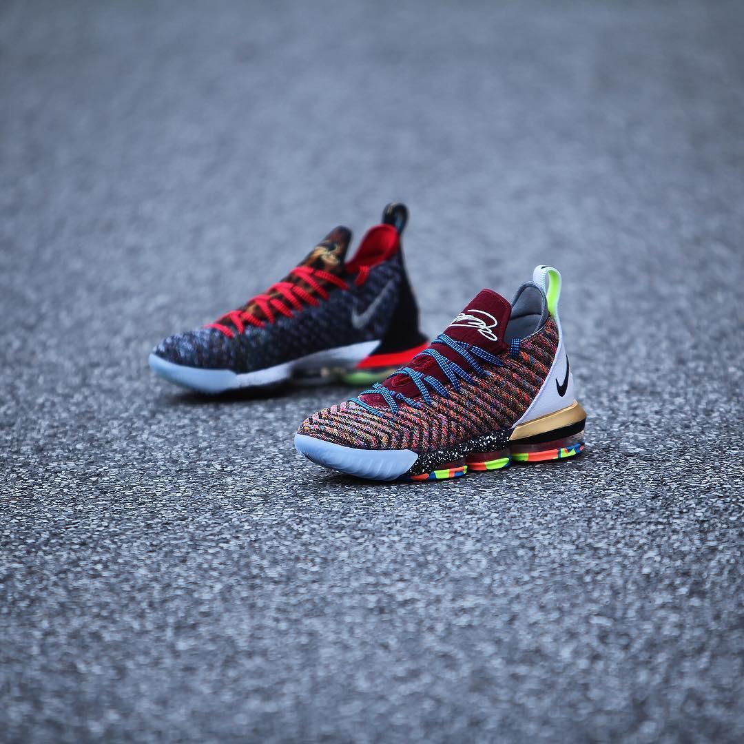 "Nike,LeBron 16  鸳鸯配色实物释出!LeBron 16 ""1 THRU 5"" 本周发售!"