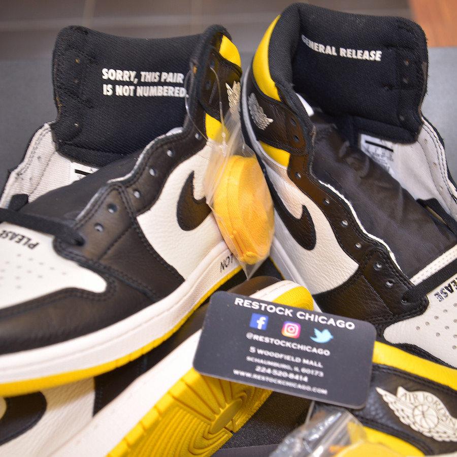 AJ1,Air Jordan 1,861428-107,发售  黑黄脚趾 + 趣味标语!全新 AJ1 年底发售,人气可能超越黑紫脚趾