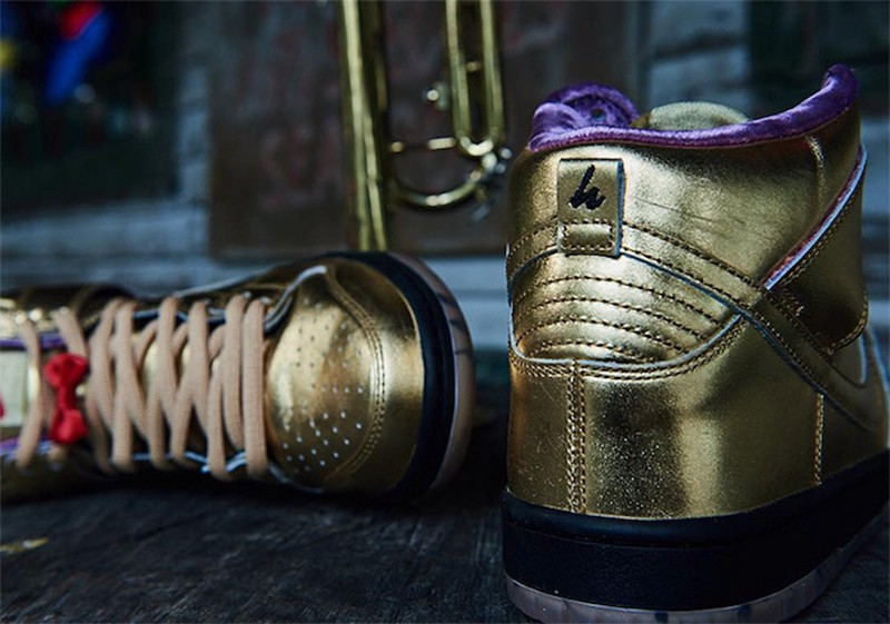 "Nike SB,Humidity,Dunk High,Tru  规格极为奢华!Humidity x Nike SB Dunk High ""Trumpet"" 即将发售"