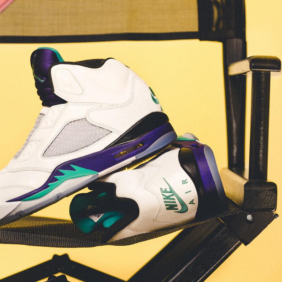 aj5白葡萄上脚_威尔·史密斯生日当天发售!这双白紫 AJ5 入手难度可能不低 ...