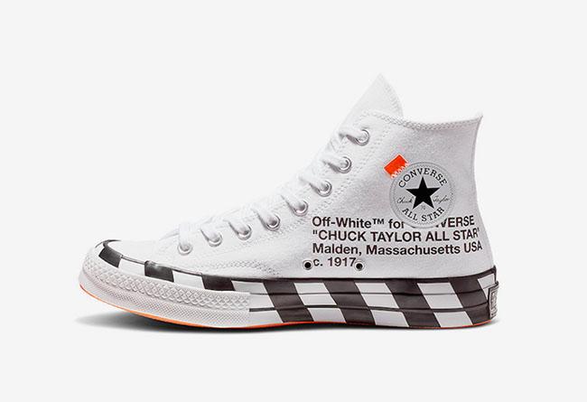 "Converse,OFF-WHITE,Chuck 70,St  官图释出!OFF-WHITE x Converse Chuck 70 ""Stripe""即将发售"
