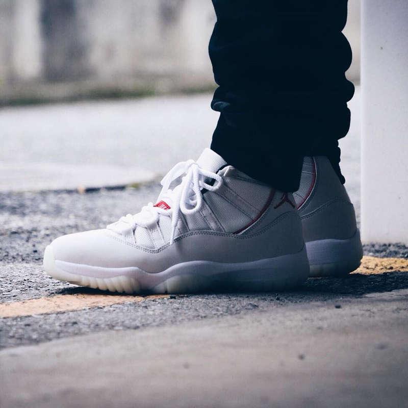 Air Jordan 11,AJ11,Platinum Ti  明早 9 点发售!Air Jordan 11 铂金实物 + 上脚真的帅!
