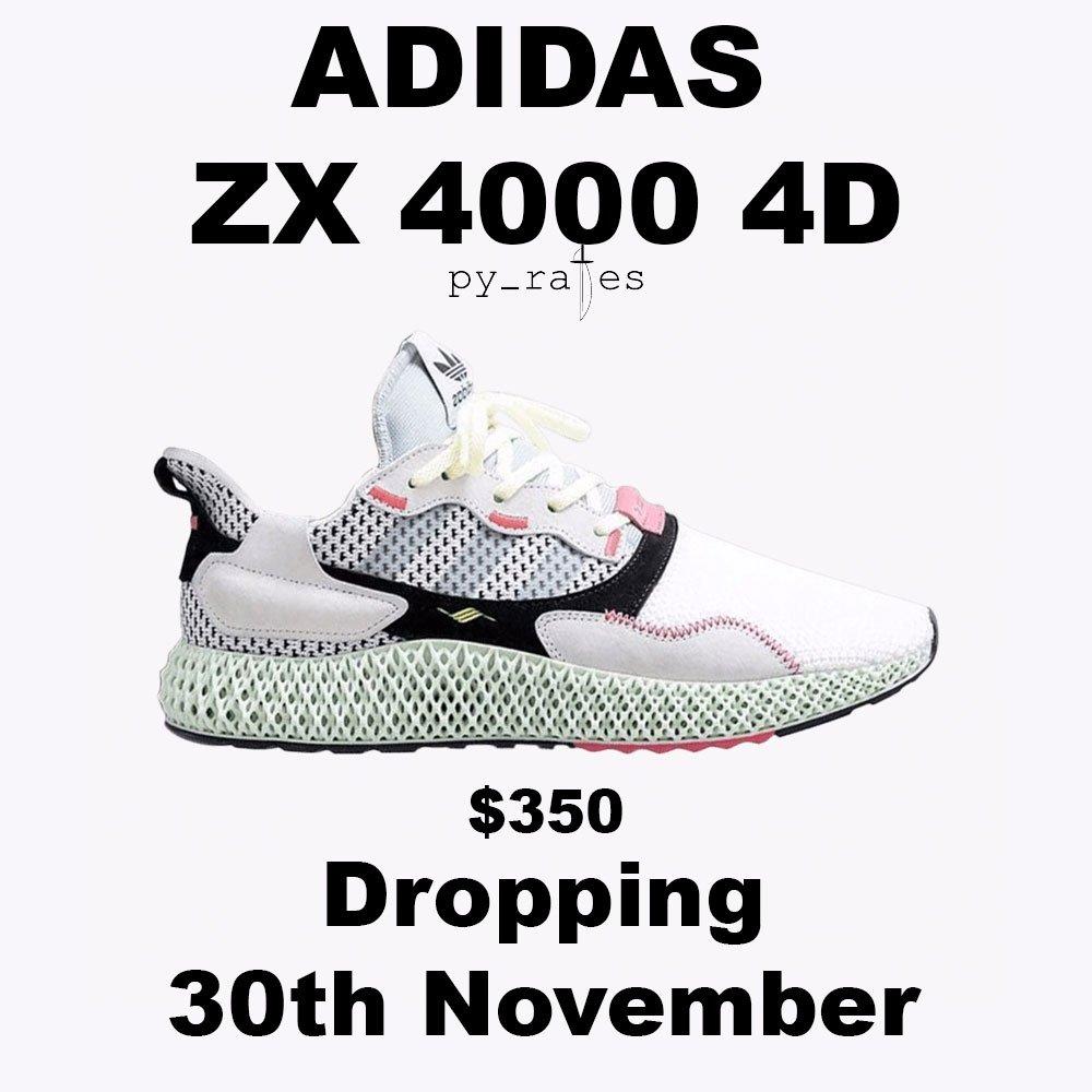 adidas,ZX 4000 4D,发售,上脚  全新 4D 跑鞋终于要来了!adidas ZX 4000 4D 本月底发售