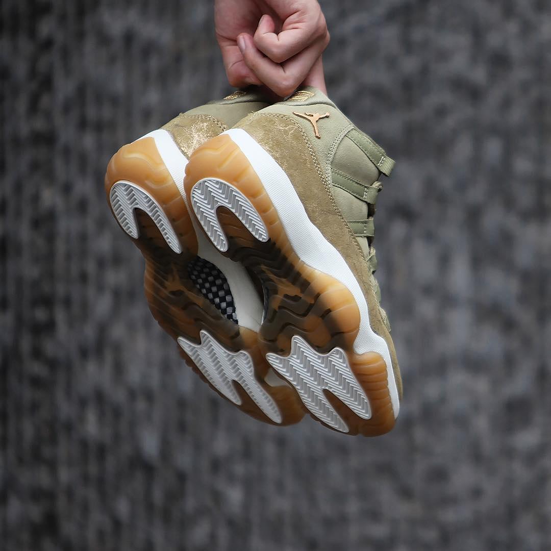 "Air Jordan 11,AJ11,发售,开箱  冬季绝佳搭配!Air Jordan 11 ""Olive Lux"" 将于明天发售"