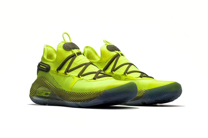 Curry 6,Under Amrour  以库里糗事为灵感的全明星战靴!荧光绿 Curry 6 现已发售