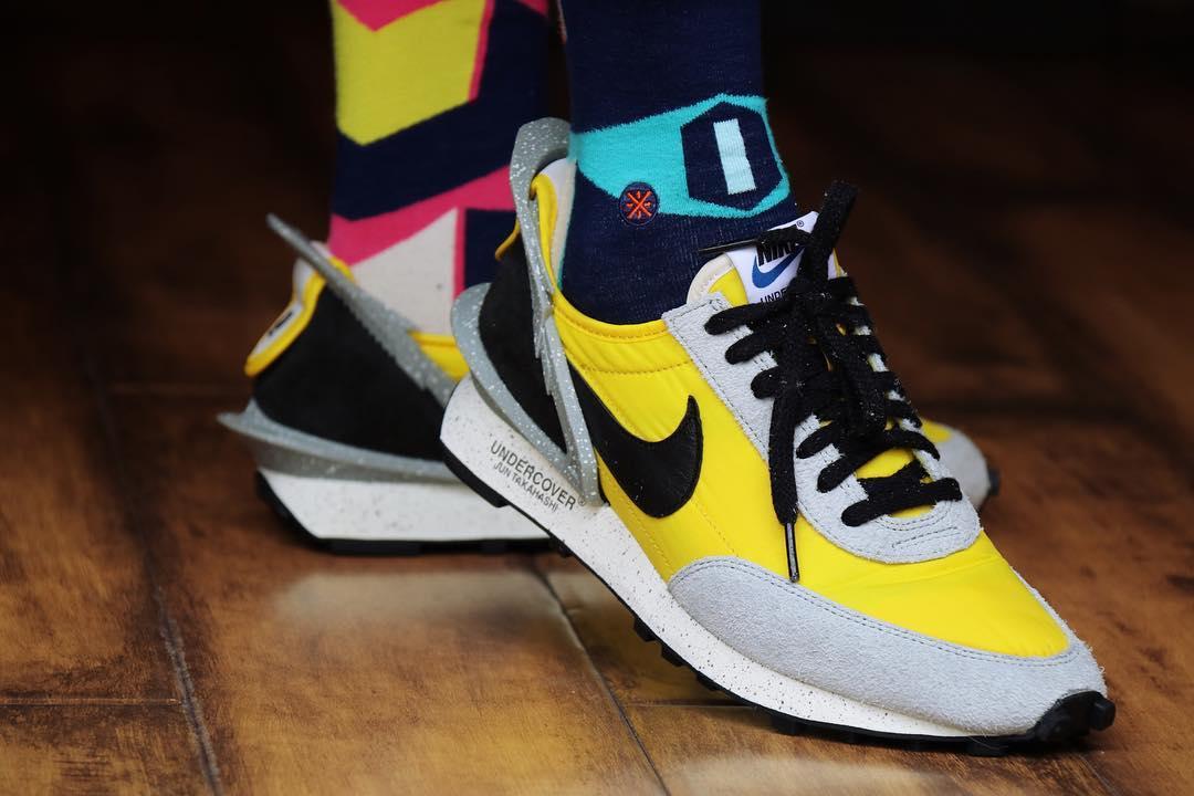 UNDERCOVER x Nike,Nike,UNDERCO  夸张后跟层次分明!亮黄色 UNDERCOVER 联名款上脚欣赏