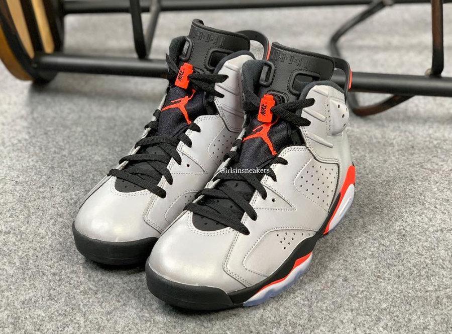 "Air Jordan 6 ""3M Reflective In  3M 反光鞋面 + 经典黑红配色!全新 Air Jordan 6 即将发售"
