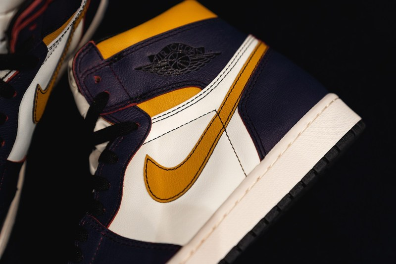 Nike SB,Air Jordan 1,CD6578-00  又双叒叕是湖人配色!Nike SB x Air Jordan 1 实物美图来了!