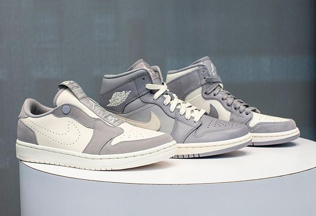 Air Jordan 1 mid,AJ1mid,发售  一次发三双!你们都想要的酷灰 Air Jordan 1 来了!