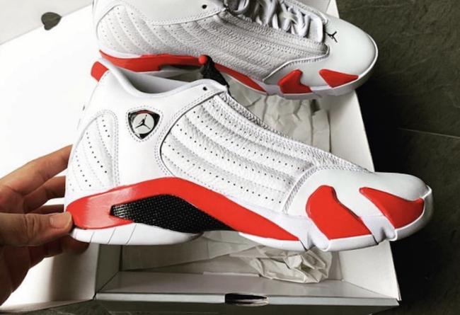 完整实物终于曝光!白红 Air Jordan 14 下月即将发售