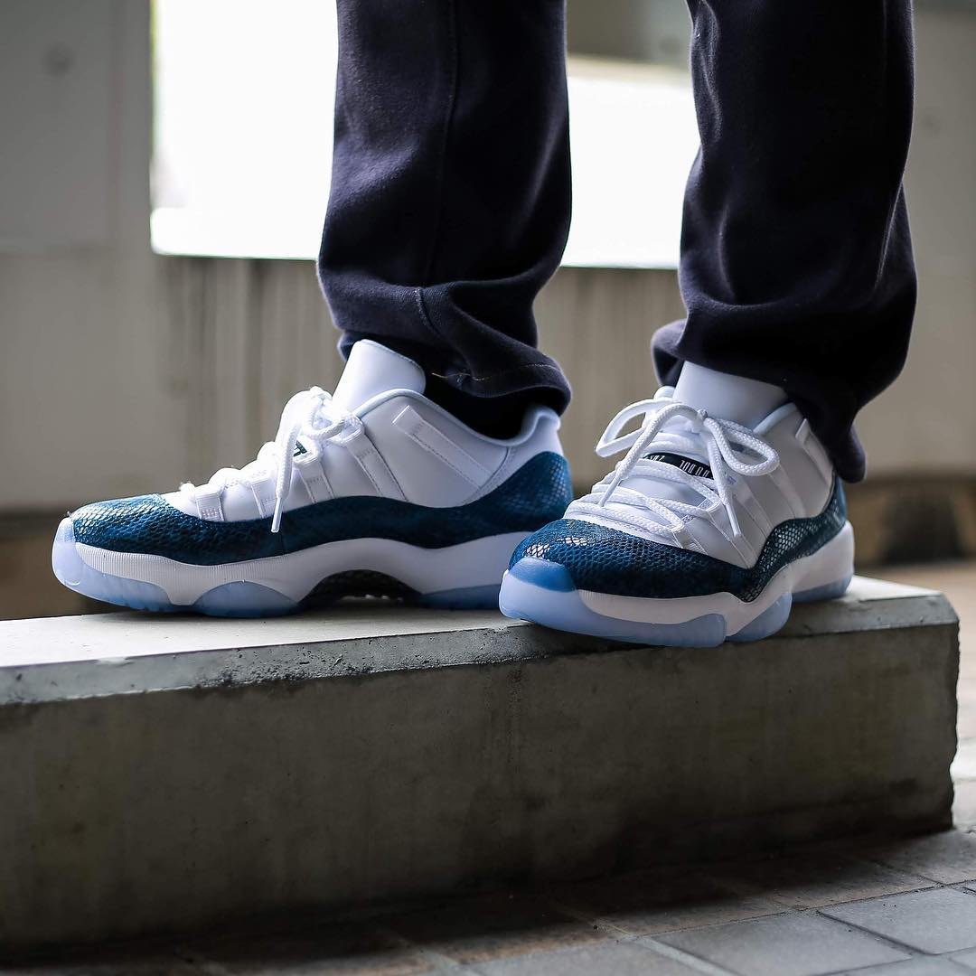 AJ11,Air Jordan 11 Low,CD6846-  ​今年第一双 AJ11 来了!蓝蛇 Air Jordan 11 Low 本周即将发售!