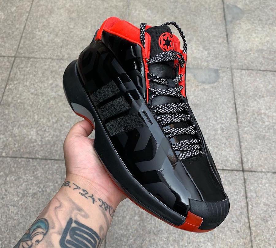 Crazy 1,adidas  星球大战 x adidas Crazy 1 首次曝光!黑红的银河帝国配色!