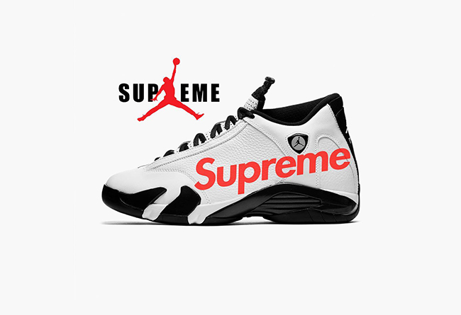 Supreme,Air Jordan,AJ5,AJ14,发售  真顶不住了!时隔 5 年,Supreme 再曝将与 Air Jordan 联名