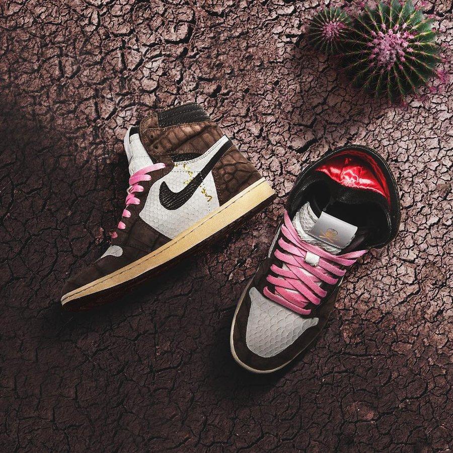 Travis Scott,AJ1,定制,Air Jordan  比 TS x AJ1 更稀有,更高级!近期定制球鞋美图欣赏!