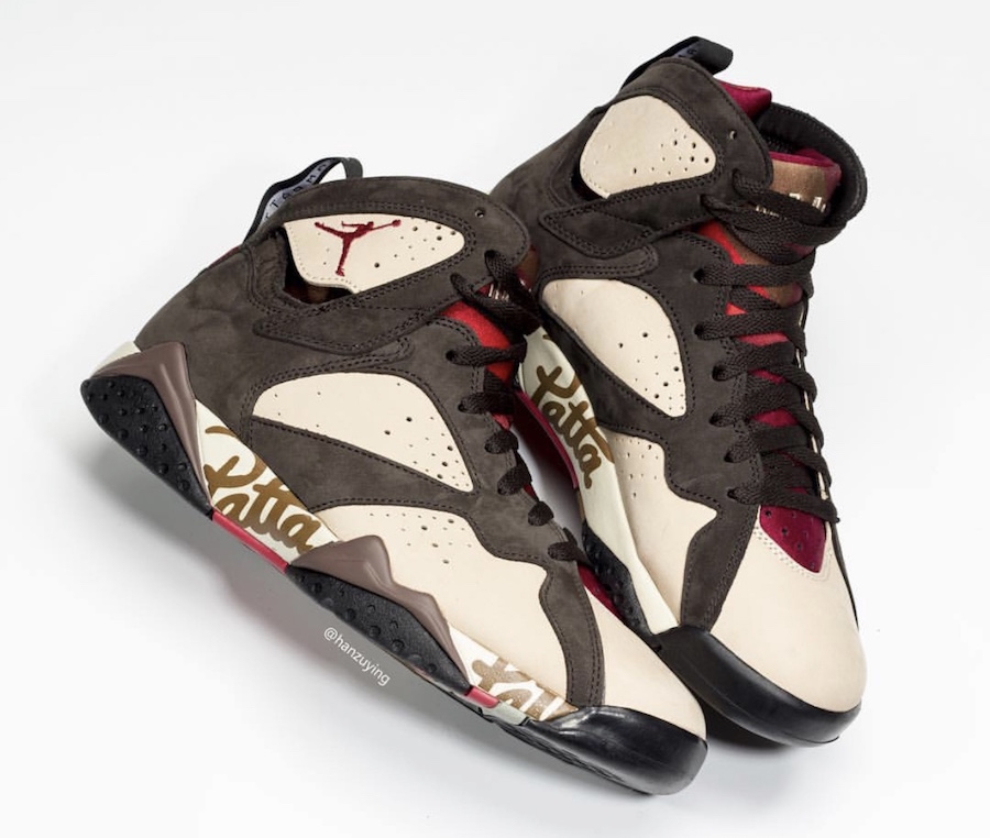 Nike,Air Jordan 7,发售  细节实物完整曝光!Patta x Air Jordan 7 六月发售