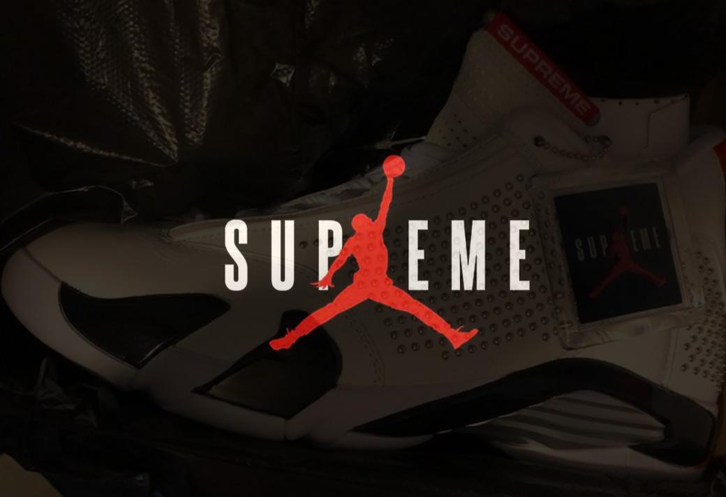 Supreme,Air Jordan 14,AJ14  辨识度一流!Supreme x Air Jordan 14 首次曝光!