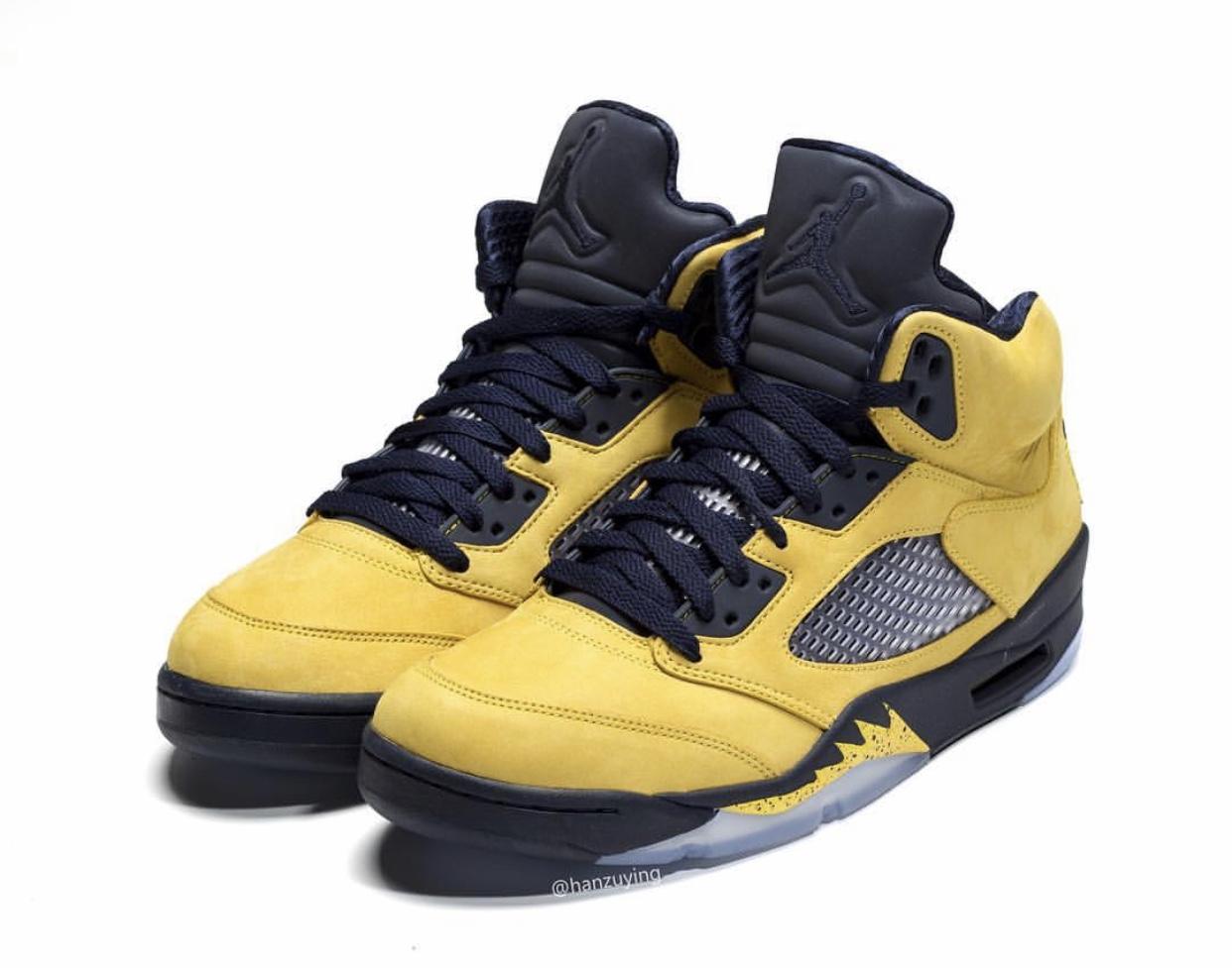 Air Jordan 5,发售  DJ Khaled 收藏的天价 AJ5 迎来市售 !密歇根配色八月发售