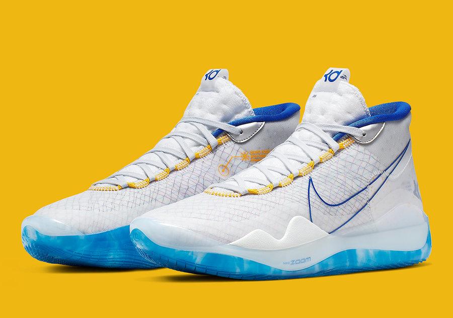 Nike,KD12,发售,AR4229-100  主场球衣配色 + 独特晕染外底!全新 Nike KD12 即将发售