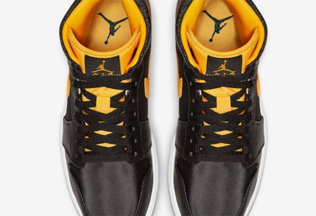 Air Jordan 1,AJ1,nike,发售  格外抢眼的黑黄配色!全新 Air Jorddan 1 Mid 官图释出