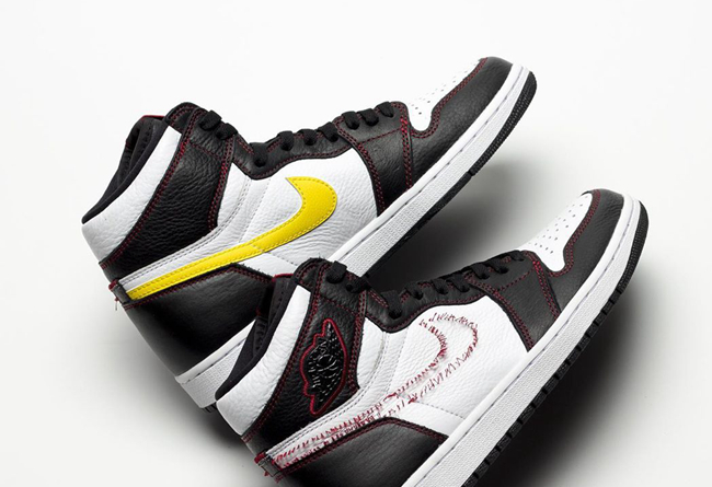 Air Jordan 1,AJ1,Dynamic Yello  年度最怪球鞋!「拆线」Air Jordan 1 再曝新图!