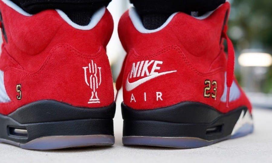 Trophy Room,Air Jordan 5,AJ5  价格近 10 万!亲友 Trophy Room x AJ5 完整实物上脚欣赏!