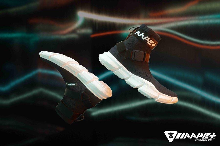 AAPE,发售  机能袜套风!AAPE 首个鞋款系列正式登场