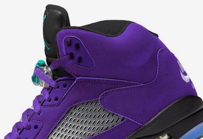 Air Jordan 5,AJ5,发售,136027-500  更风骚!反转黑葡萄 Air Jordan 5 曝光,明年发售!