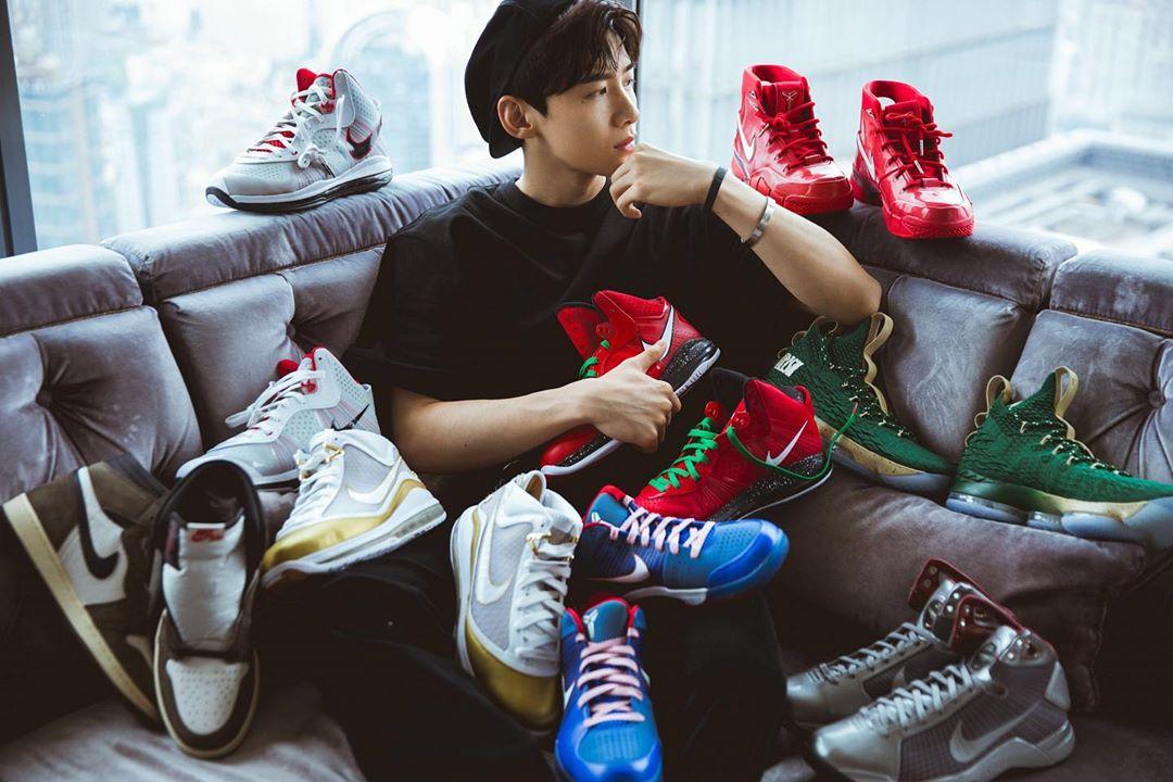 白敬亭,Nike,明星  白敬亭参加鞋展疯狂换鞋!还买了一双 Air Mag!