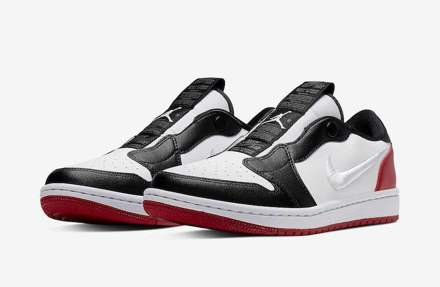 Air Jordan 1 low,AJ1,nike,发售,A  特殊刺绣 Swoosh Logo! 黑脚趾 Air Jordan 1 Low 首度曝光