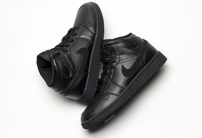Nike,Air Jordan 1 Mid,发售  低调出众的质感!黑魂 Air Jordan 1 Mid 实物图曝光