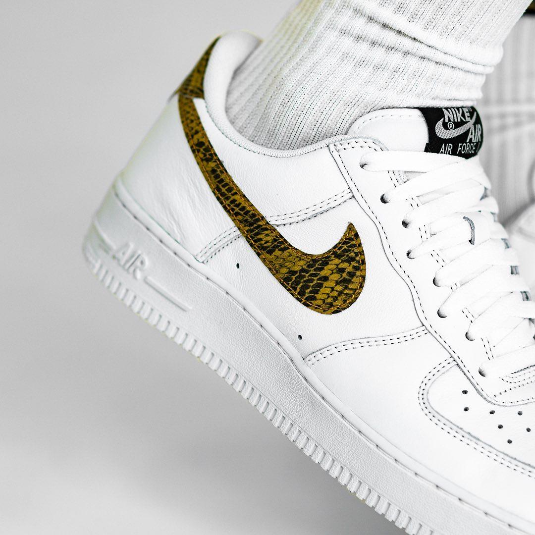 Nike,Air Force 1,发售  官网瞬间售罄!蛇纹 Air Force 1 上脚美图欣赏