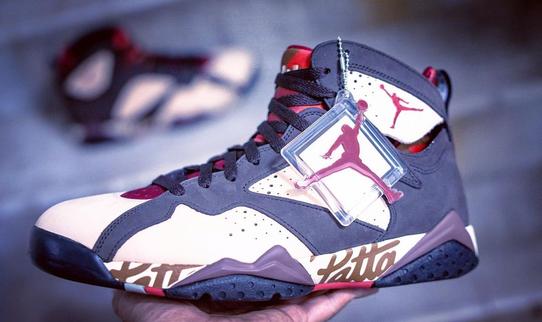 Air Jordan 7,AJ7,Patta,发售,AT33  市价破 3K!Patta x Air Jordan 7 美图来了,看完更想买!