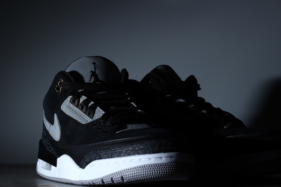 Air Jordan 3,Nike,Tinker,AJ3,发  3M 反光 + 黑水泥!全新配色 Air Jordan 3 Tinker 实物再度曝光!