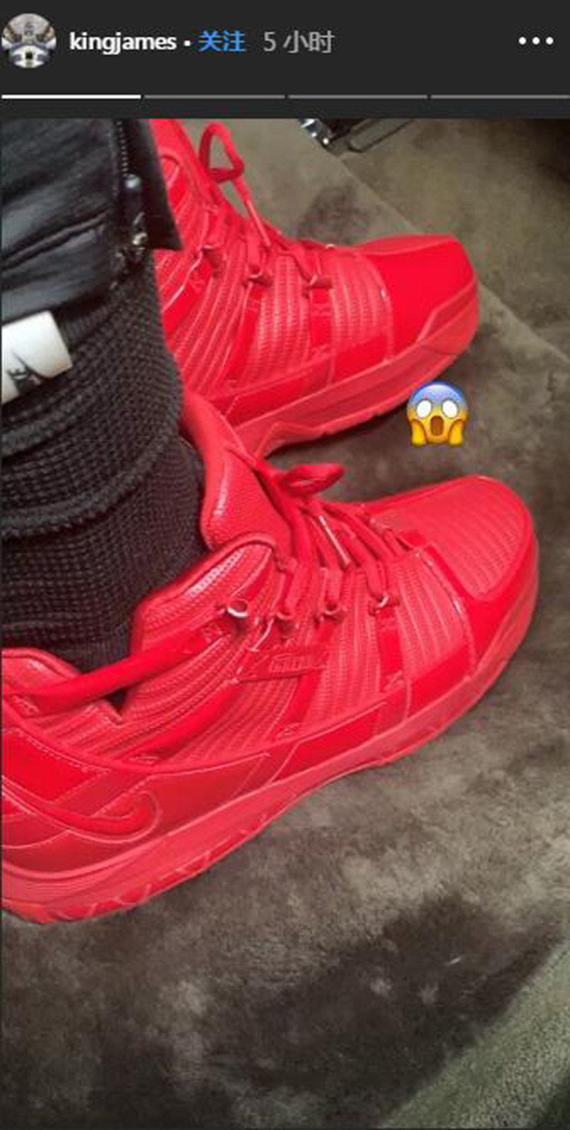 Nike,LeBron 3,曝光  詹皇亲晒新鞋!抢眼大红配色 LeBron 3 首度曝光!