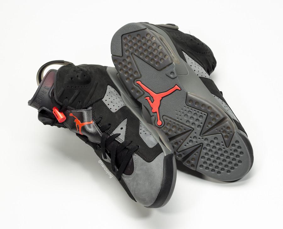 Nike,Air Jordan 6,发售,AJ6  细节设计非常出众!PSG x Air Jordan 6 最新实物曝光