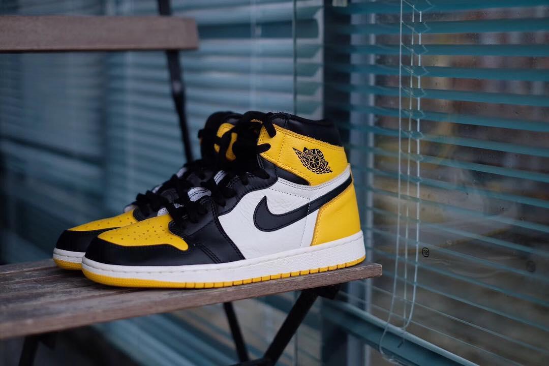Nike,Air Jordan 1,AJ1,发售,AR102  黑黄脚趾 Air Jordan 1 要来了?全新实物图曝光!