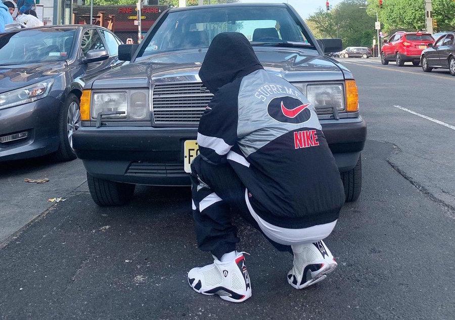 Nike,Supreme,AJ14,Air Jordan 1  实物细节还不错!Supreme x AJ14 联名即将来临