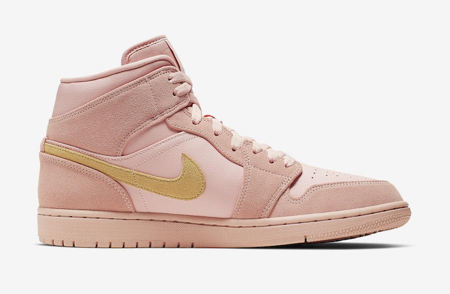 Nike,Air Jordan 1 Mid,发售  夏日清新淡粉色调!全新 Air Jordan 1 Mid 即将发售!