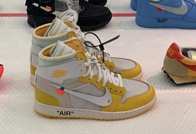 Virgil Abloh,OFF-WHITE,Air Jor  还有黄色 AJ1 和两双 AJ4?OFF-WHITE x Nike 超多罕见联名曝光!