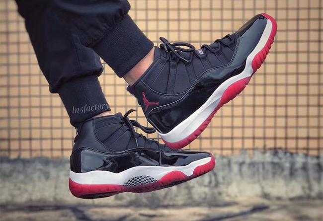 Nike,Air Jordan 11,AJ11,发售  最终确认 23 后跟?全新黑红 Air Jordan 11 上脚美图释出!