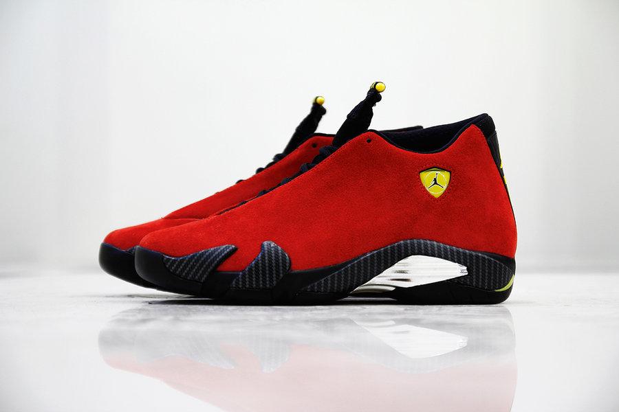 Nike,Air Jordan 14,AJ14,发售,BQ3  下周六发售!法拉利 Air Jordan 14 最新实物图来了!