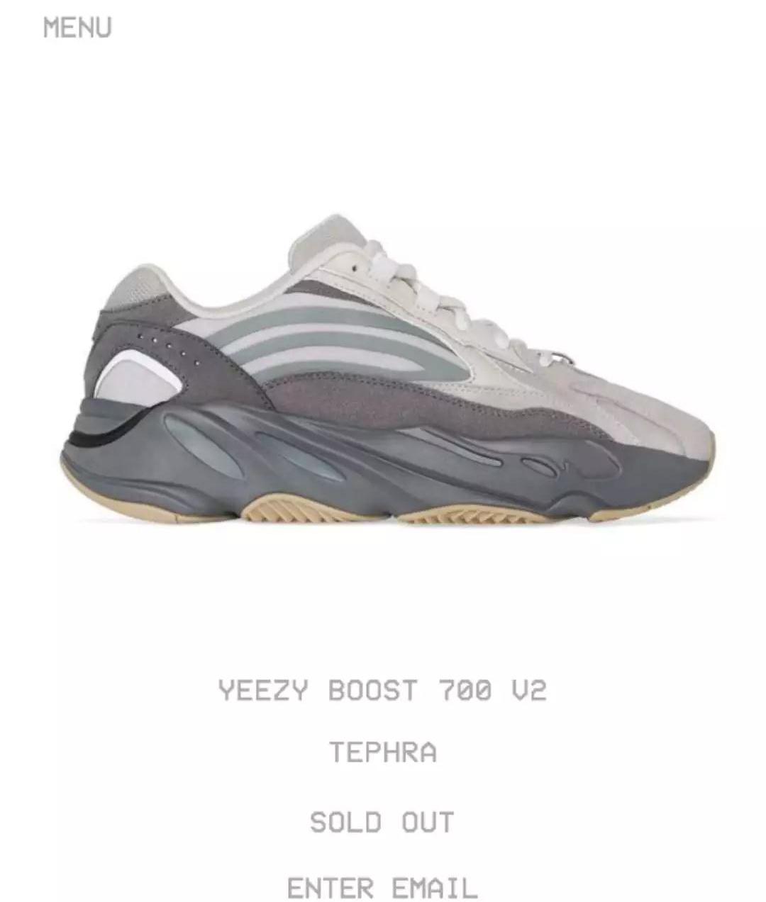 adidas,Yeezy 700 V2,发售,FU7914  上架 7 分钟全码售罄!「火山灰」Yeezy 700 V2 会是黑马么?