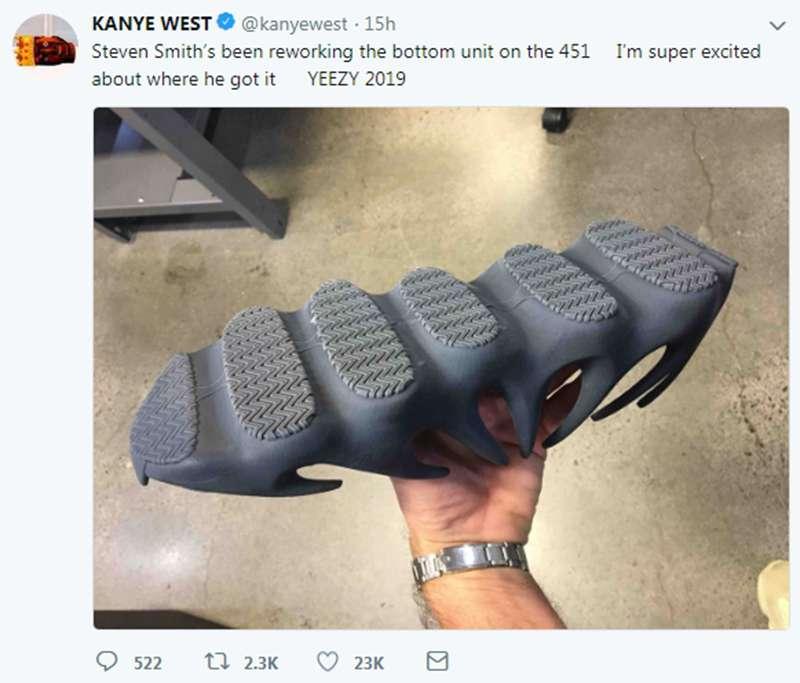 """Yeezy,Yeezy 451,Kanye,adidas  「火山」Yeezy 451 上脚首次曝光!引发 """"曝料大神"""" 质疑!"""