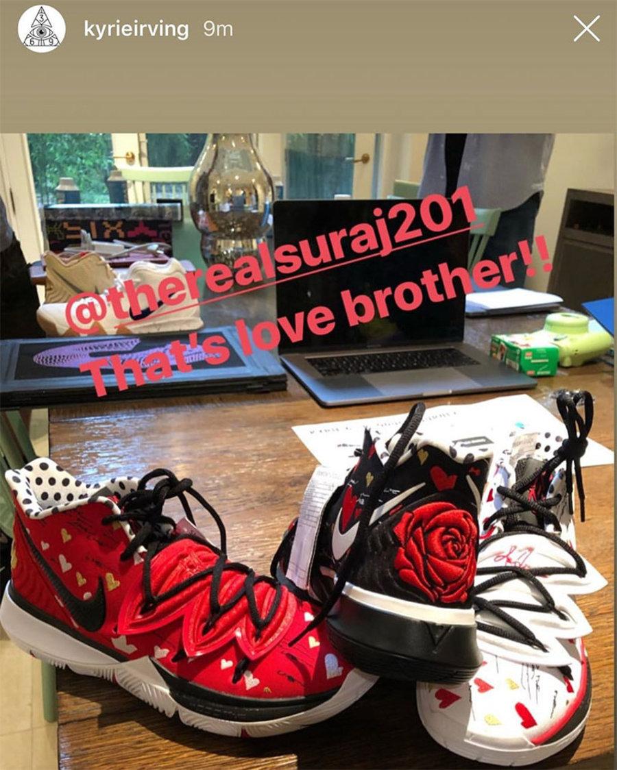 Sneaker Room,Nike,Kyrie 5,MOM  稀有联名曝光!欧文亲晒 Sneaker Room x Kyrie 5!