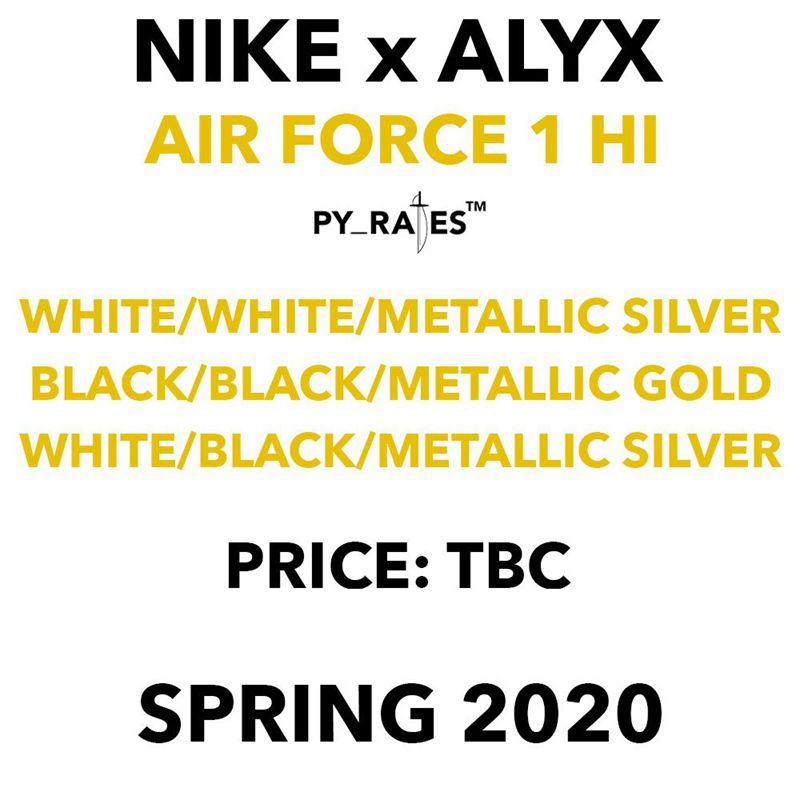 Nike,Air Force 1 High,AF1,ALYX  招牌机能搭扣!ALYX x Air Force 1 最新发售信息释出!