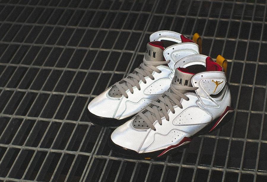 Air Jordan 7, Reflections of A  耀眼鞋面反光!3M 系列 Air Jordan 7 实物美图欣赏