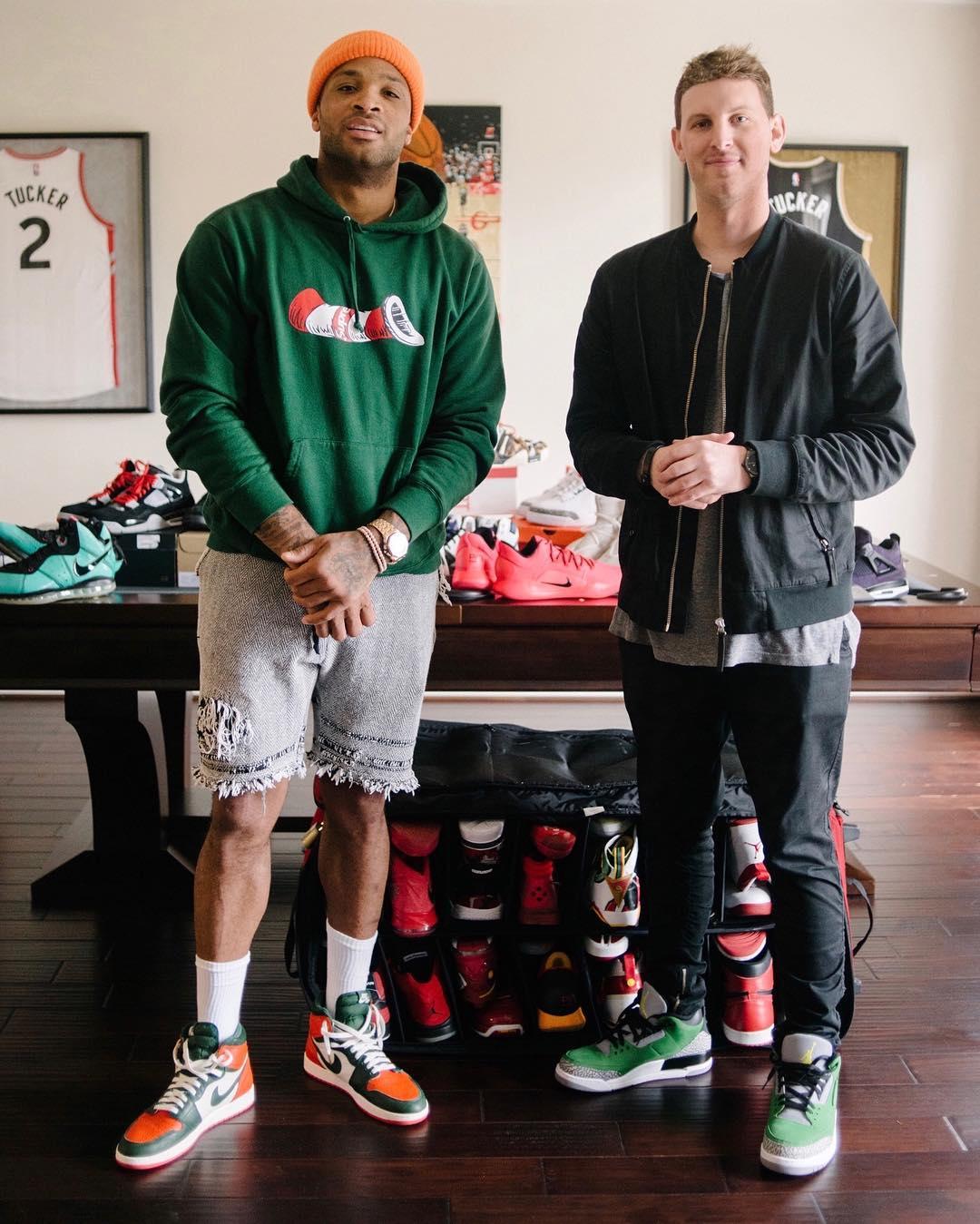Nike,Air Jordan,塔克  鞋王之名当之无愧!塔克上赛季到底穿了多少双球鞋?