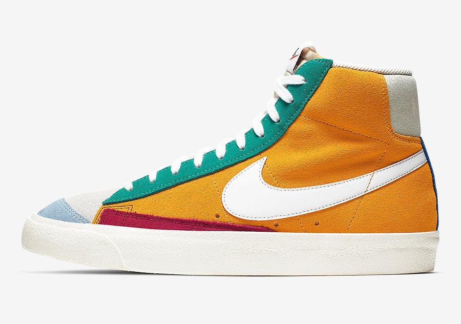 Nike,Blazer Mid,发售,CI1167-600  多元色彩拼接!高颜值 Nike Blazer Mid 下月发售!