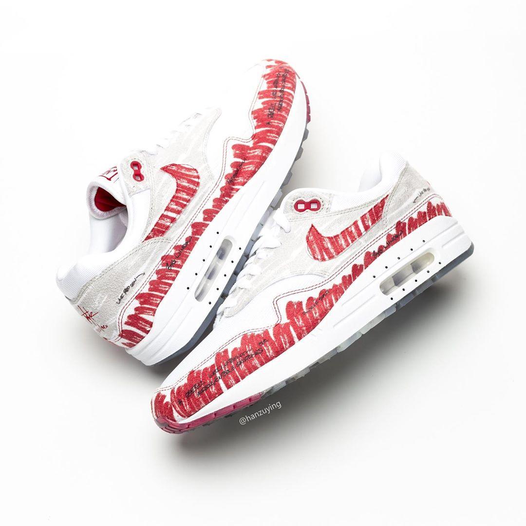 Nike,Air Max 1,上脚,CJ4286-101  「禁止转卖」细节再现!手稿 Air Max 1 Tinker 细节实在太多了!