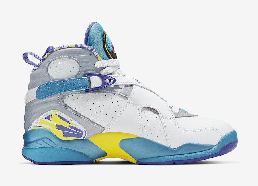 """Nike,AJ8,Air Jordan 8,发售  3M 反光 + 清爽色调!Air Jordan 8 """"White Aqua"""" 下周发售!"""